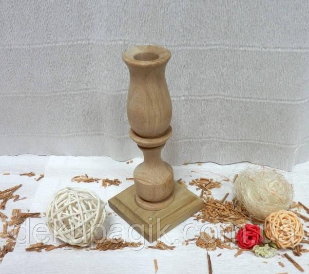 Подсвечник деревянный 15,5 см