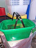 Корзина  для  для магазинов зеленая
