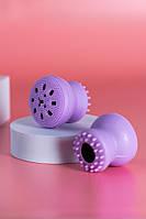 Силіконова щіточка для очищення і масажу обличчя (фіолетова)