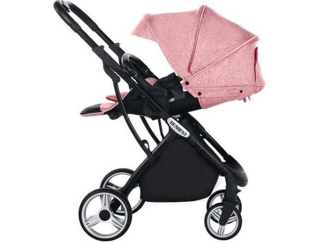 Прогулянкова коляска Dearest 1108 рожева з реверсивним переставних блоком