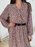 Шифонова сукня вільний на гудзиках нижче коліна довжиною (р. 42-46) 34032084, фото 5