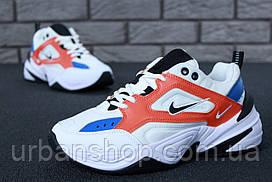 Чоловічі кросівки Nike M2K Tekno White/Orange. ТОП Репліка ААА класу.