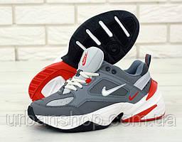 Чоловічі кросівки Nike M2K Tekno Grey 2. ТОП Репліка ААА класу.