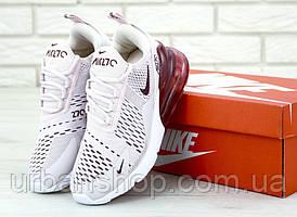 Жіночі кросівки Nike Air Max 270 White Red . ТОП Репліка ААА класу.
