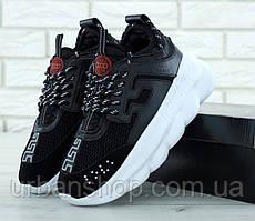 Чоловічі кросівки versace, Versace Chain Reaction Sneakers Black. 11700 ТОП Репліка ААА класу.