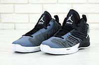 Чоловічі баскетбольні кросівки Nike Air Jordan Super Fly 5 Grey. ТОП Репліка ААА класу.