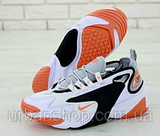 Чоловічі кросівки Nike Zoom 2K White Orange . ТОП Репліка ААА класу.
