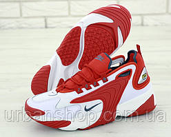 Чоловічі кросівки Nike Zoom 2K White Red  . ТОП Репліка ААА класу.