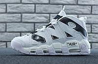 Чоловічі кросівки Nike Air More Uptempo White Білий. ТОП Репліка ААА класу.
