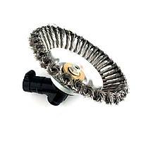 Щетка на мотокосу, для бензокосы, триммера металлическая диаметр 190 мм
