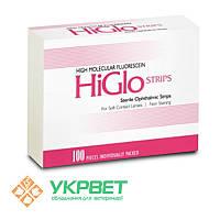 Офтальмологические тест-полоски с флюоресцеином высокомолекулярным HiGloStrips, уп.100 шт