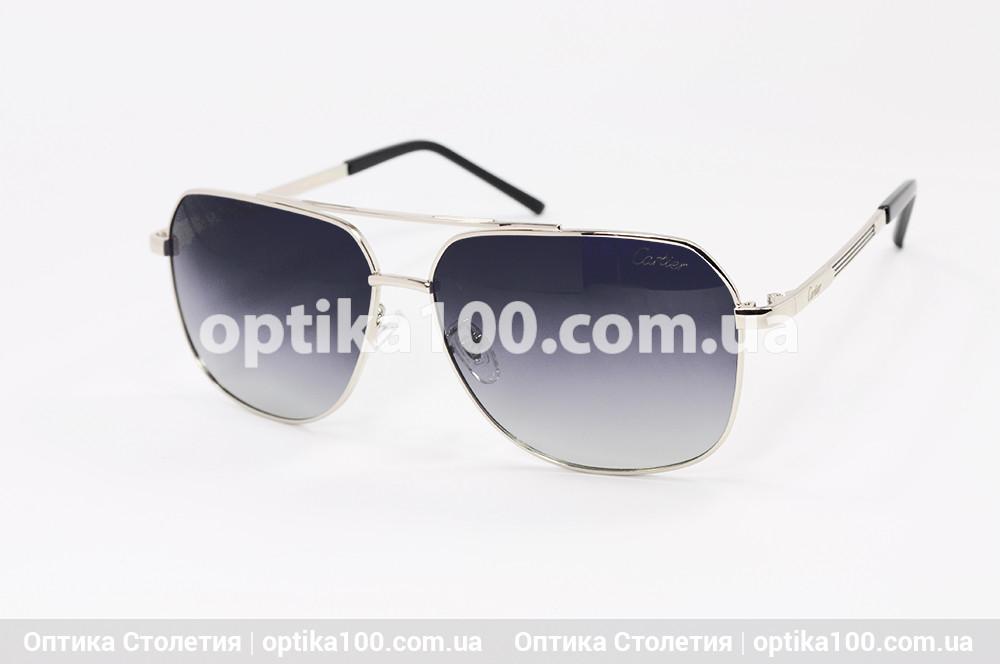 Солнцезащитные очки в стиле Cartier в металлической оправе