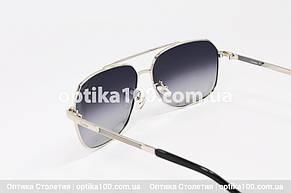 Солнцезащитные очки в стиле Cartier в металлической оправе, фото 2