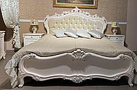 Спальня полный комплект ,белая ,матовая , из дерева + МДФ , модель Каролина