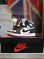 Кросівки Nike Jordan 1 black/white. Джордан 36-40 розміри., фото 1