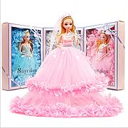 Кукла в свадебном платье 30см. Кукла шарнирная в розовом платье. Кукла принцесса