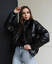 Женская куртка LUNALY Хлоя черного цвета, фото 3