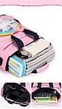 Сумка портфель Senkey&Style, шкільний рюкзак через плече рожевий Єдиноріг Код 10-6445, фото 5