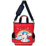 Сумка портфель Senkey&Style, шкільний рюкзак через плече рожевий Єдиноріг Код 10-6445, фото 7