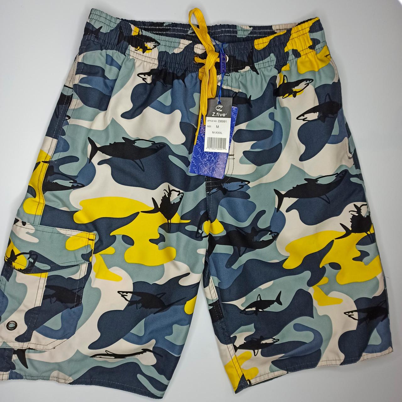 Мужские шорты камуфляж Z.Five 8991 желтые 44 46 48 50 52 размер