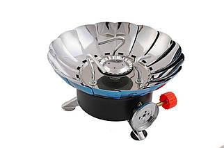 Плита газовая портативная Intertool - 200 x 85 мм с лепестками от ветра (GS-0011), (Оригинал)