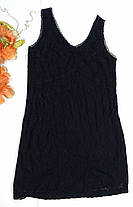 Чорне еластичне кружевне плаття Розмір 40 ( Е-148), фото 2