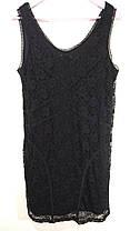 Чорне еластичне кружевне плаття Розмір 40 ( Е-148), фото 3