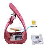 Смарт часы детские умные с GPS Q50 Pink, фото 3