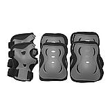 Захист дитячий комплект SPORTVIDA Наколінники налокітники рукавички EVA PU Чорний-сірий (SV-KY0007) S, фото 2