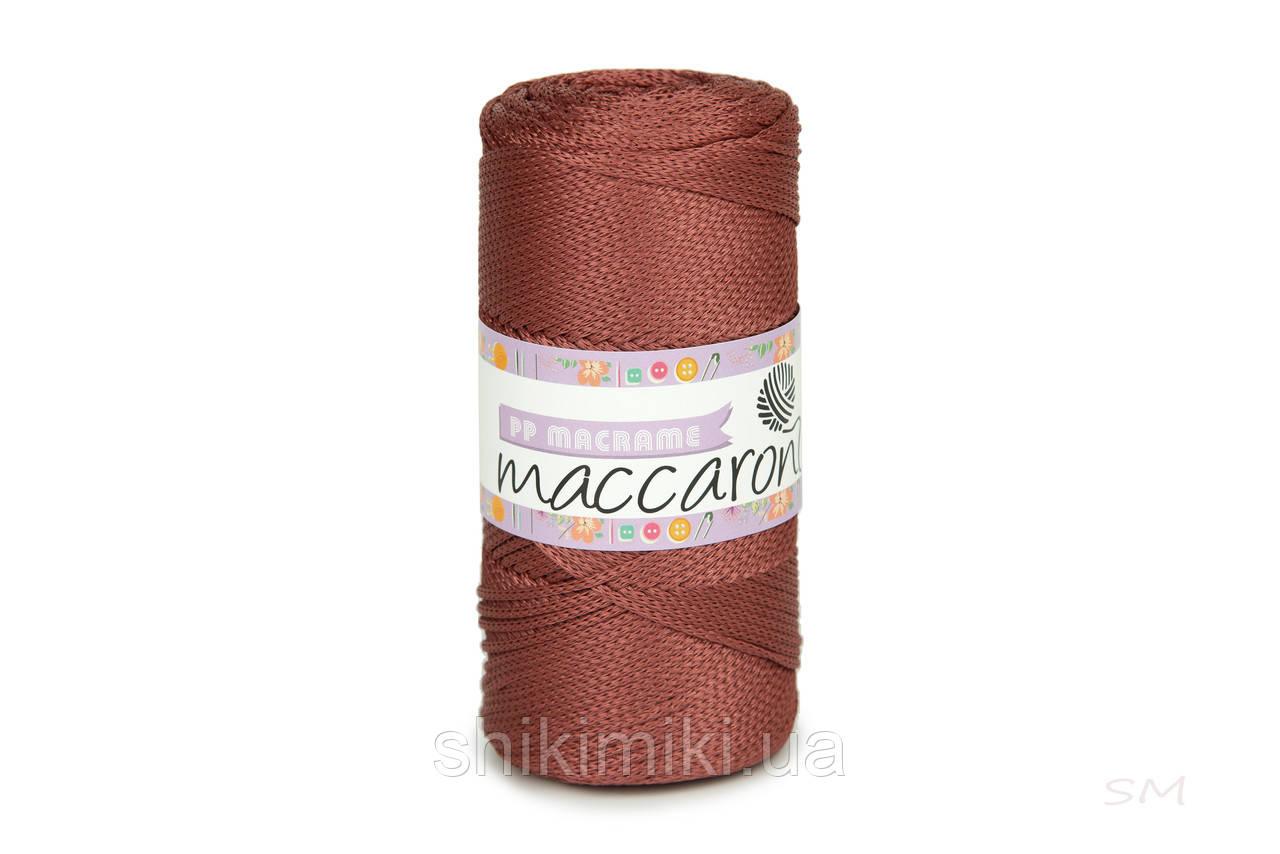 Трикотажний шнур поліпропіленовий PP Macrame, колір Каштановий