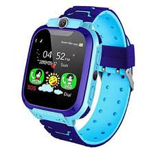 Смарт часы детские умные с GPS TD07S + камера blue