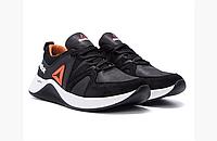 Мужские кожаные кроссовки Reebok FLEXLIGHTX черные, фото 1