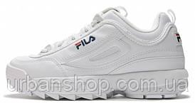 "Чоловічі кросівки, obuwie męskie Fila Disruptor II ""White""."
