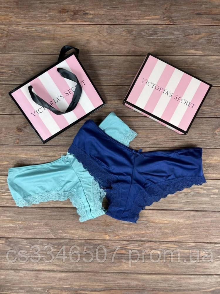 Набор женских трусов Victoria's Secret Model 2 Синий, Голубой