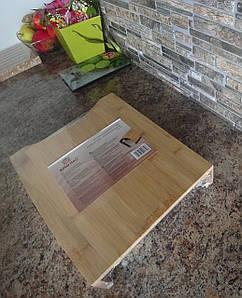 Доска разделочная KingHoff бамбук с поддоном из нержавеющей стали 35,5х25,6х6см KH-1370