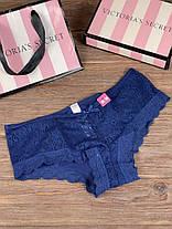 Набор женских трусов Victoria's Secret Model 9 Черный, Синий, Фиолетовый, Персиковый , Сиреневый, фото 2