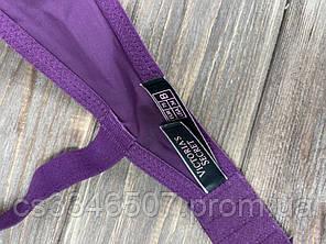 Комплект женский Victoria's Secret Model Rhinestone двойка топ+трусики фиолетовый, фото 2