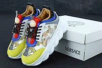 """Кросівки жіночі замшеві Versace """"Різнокольорові з орнаментом"""" версаче р. 36-41 11899"""