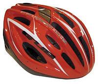 Велошлем взрослый красный