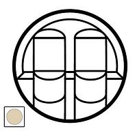 Лицевая панель компьютерной розетки RJ45, двойная Celiane слоновая кость