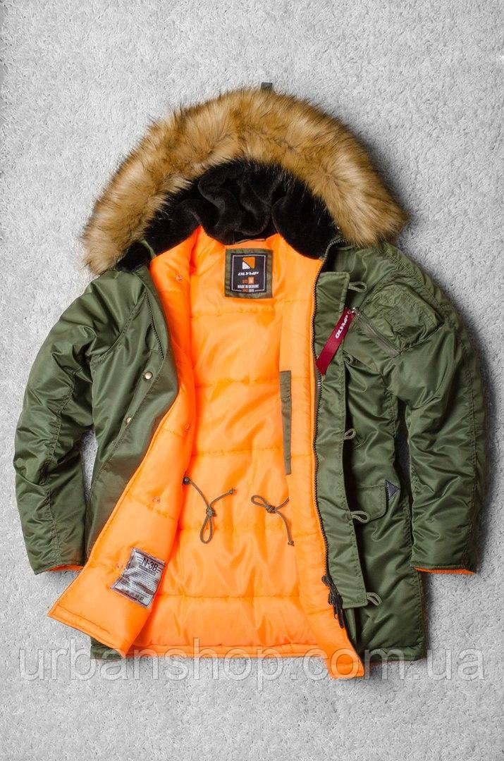 Зимова парка Olymp - Аляска N-3B, Slim Fit, Color: Khaki.