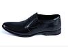 Мужские  кожаные туфли AVA De Lux черные без шнурков
