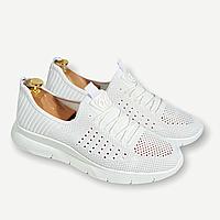 Кросівки жіночі-підліткові на шнурках (Білі)