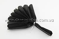 Помпон из тишью, черный, 25 см