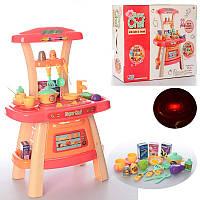 Игровой набор музыкальная Кухня с посудой розовая Super Chef 16855A