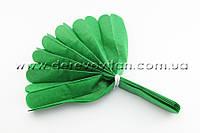 Помпон из тишью, темно-зеленый, 35 см