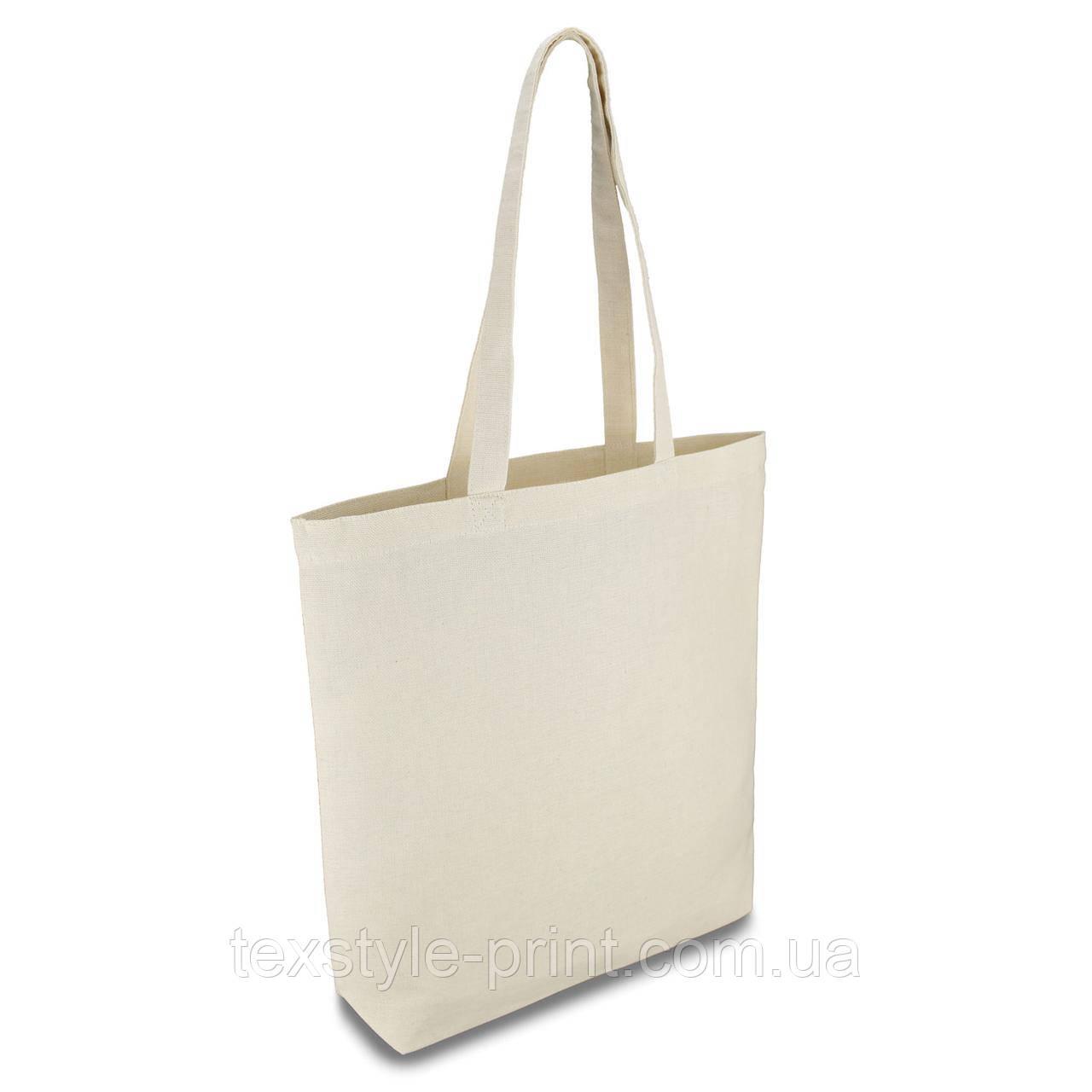 Эко сумка из хлопка. Размер 35*35*7 см. дно конверт. Ткань двунитка 210г/м.