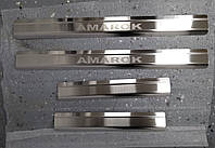 Накладки на пороги Volkswagen Amarok 2010- 4шт. Standart