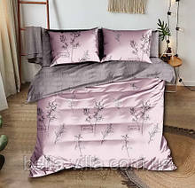 Комплект постільної білизни рожевий з микросатина двоспальний.