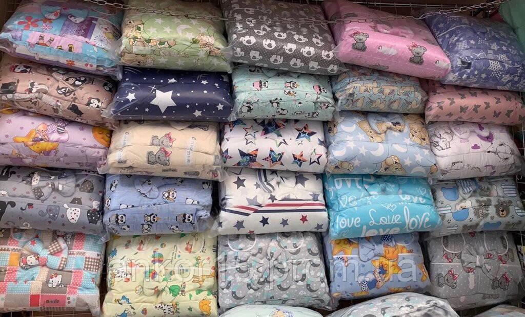 Набор постельного белья в детскую кроватку с защитой, балдахином